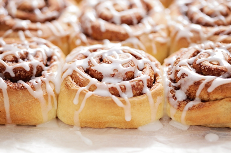 homemade fresh cinnamon buns - sweet food